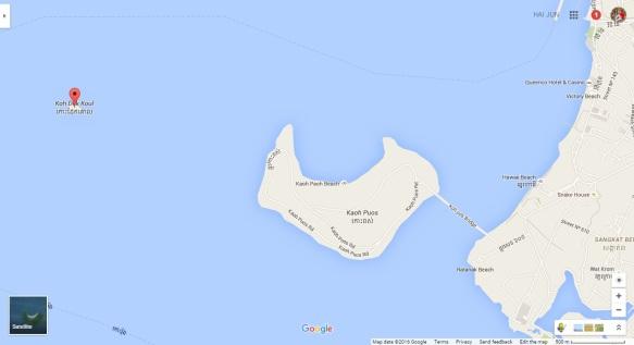 map of koh dek