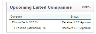 upcoming companies