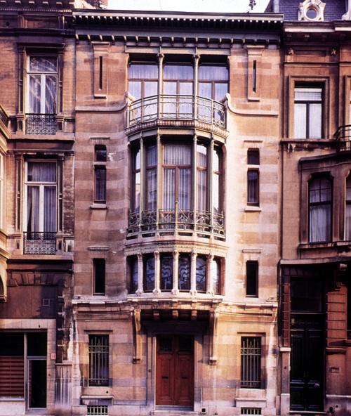 Brussels-Hotel Tassel, ext_ facade
