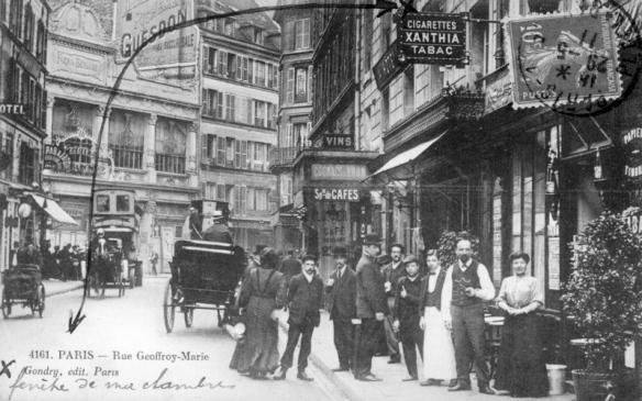 巴黎街道老照片